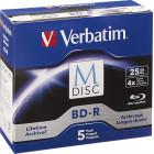 Verbatim - 4x M-Disc BD-R Discs (5-Pack) - White