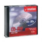 Imation - 16950 CD Rewritable Media - CD-RW - 12x - 700 MB - 5 Pack Jewel Case
