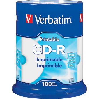 Verbatim - 52x CD-R Discs (100-Pack) - White