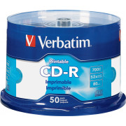 Verbatim - 52x CD-R Discs (50-Pack) - White