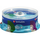 Verbatim - 52x CD-R Discs (25-Pack) - Multi