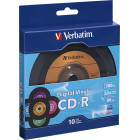 Verbatim - Digital Vinyl 52x CD-R Discs (10-Pack) - Black/Orange