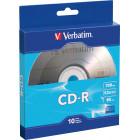 Verbatim - 52x CD-R Discs (10-Pack) - Silver