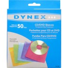 Dynex - 50-Pack Color CD/DVD Sleeves - Assorted