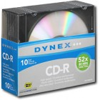 Dynex - 10-Pack 52x CD-R Discs with Jewel Cases