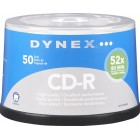 Dynex - 50-Pack 52x CD-R Disc Spindle - Silver