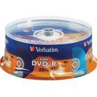 Verbatim - 16x DVD-R Discs (25-Pack) - Multi