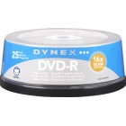 Dynex - 25-Pack 16x DVD-R Disc Spindle - Blue/Gray