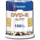 Verbatim - Life Series 100-Pack 16x DVD-R Disc Spindle