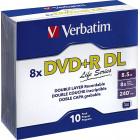Verbatim - 8x DVD+R DL Discs (10-Pack) - Silver
