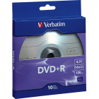 Verbatim - 16x DVD+R Discs with Branded Surface (10-Pack)