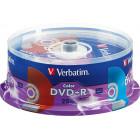 Verbatim - Life Series 16x DVD+R Discs (25-Pack) - Green/Blue/Orange/Red/Yellow