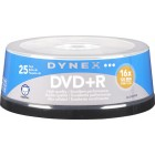 Dynex - 25-Pack 16x DVD+R Disc Spindle - Blue/Gray